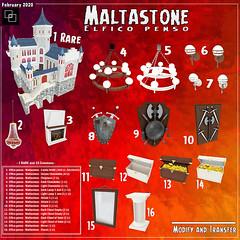 Maltastone - New things by Elfico penso (Aksanka93Resident) Tags: maltastone elfico penso castle second life 3d house mesh best sense gacha