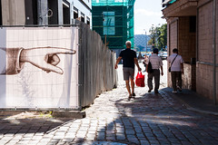 poke a finger (NoMorePhotoHere) Tags: streetphotography street photojournalism candid riga people latvia finger sign