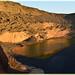 Le lac vert à la tombée du jour - Lago Verde (El Golfo-Lanzarote/Canaries)