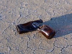 Daliesque beer bottles (simonov) Tags: blackrockdesert playa car camping melted glass bottles