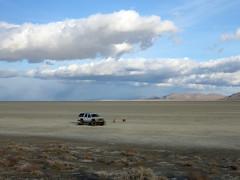 Back on the playa (simonov) Tags: 1998 chevrolet suburban suv 4wd 4x4 lifted badmamajama blackrockdesert playa car camping