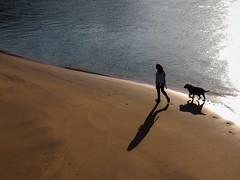 Paseando (Amataki) Tags: amataki muskiz la arena zierbena ciervana bizkaia vizcaya paseando perro can dog amigo friends hondartza playa beach eguzki sol sun