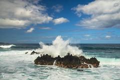 Northshore Maui (RobertCross1 (off and on)) Tags: a7rii alpha emount fe1635mmf4zaoss hi hanahighway hawaii ilce7rm2 maui pacific pacificocean sony beach bluesky clouds fullframe island landscape mirrorless ocean roadtohana rocks sea seascape surf water waves