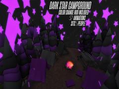 Dark Star Camp Ground - Strange Merchant (Strange Merchant Store Second Life) Tags: secondlife second life cyber cyberpunk strange merchant strangemerchant neon tron glowy campsite camp camping tent stars