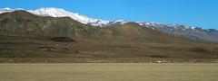 Looking back at camp (simonov) Tags: blackrockdesert playa car camping mountains snow pano panorama