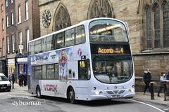 First York 37246, YN07MKD. (EYBusman) Tags: first west yorkshire rider york bus coach city district low ousegate centre wright eclipse gemini volvo b9tl 37246 yn07mkd eybusman