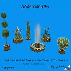 Gear Garden (FlyingArts) Tags: steampunk garden fountain flyingarts