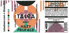 LUNCH DATE by IWANT for Talea Beer Co. (Label_Craft) Tags: beer beers craftbeer brew suds ale hops labels craft labelcraft beerlabel design illustration type fonts burp beerme brewery talea taleabeer paleale bronx nyc nycbeer