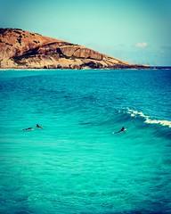 In blue (irwinm16) Tags: blue green ocean surf surfers waves rocks sky water coast esperance westernaustralia