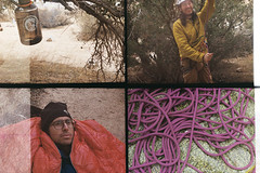 Desert camping and climbing (wrenee.com) Tags: film halfframe nickelodeonphotoblaster kodak200 kodakgc200 camping desert joshuatree