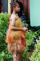 Young papua girl in traditional dress for a performance in Sorong - Occidental Papua, Indonesia (Alex_Saurel) Tags: asia sorong females adaptation tradition humanface nature femininity indonesianculture summer youngadult papuan voyage women hair indonesianethnicity exoticism candide adult people southeasternasia vacances oneperson portrait papua 1819years reallife iranjaya day outdoors westpapua vertical youthculture sliceoflife beauty grass onlywomen reportage fashion indigenousculture papuaculture sunlight indonesia naturallight tropical adultsonly onewomanonly realpeople 85mmf28sam