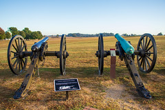Cannons on the Field (George Neat) Tags: antietam american civilwar sharpsburg washington county maryland md union confederate anv north south unitedstates america army potomac northern virginia history landscape scenic scenery historical battlefield national park monument memorial statue september 17 1862 georgeneat patriotportraits usa csa neatroadtrips outside cannon artillery