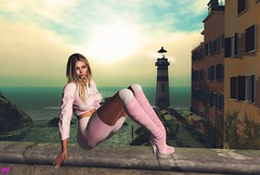 """Garrigua February Contest"" Wear Your Heart On Your Sleeve. (alexandra sunny) Tags: mangula secretposes ebentoevent genus maitreya aviglam doux secondlife blog blogger fashion female woman landscape sexy pink pose event ocean garrigua"