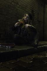 Busking (steveolane57) Tags: emmajblack lofthousestudios naturallight photoshoot tinyviolin urban