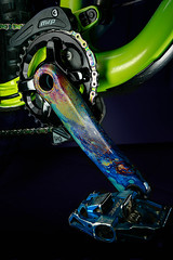 Oil Slick Cranks (tltichy) Tags: mtb mountainbike bikeporn mrp shimano timepedals hydrodip trek bikes bicycle