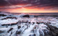 Parton rocks sunset 5 (Alf Branch) Tags: sea seaside sunset seawaves seascape irishsea westcumbria water waves wave parton partonbeach panasonic landscape leicadg818mmf284 cumbria clouds rocks rough roughsea alfbranch olympus omd olympusomdem5mkii