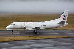 G-GNTF Saab 340A(F) EGPH 21-12-17 (MarkP51) Tags: ggntf saab 340af loganair lm log edinburgh airport edi egph scotland airliner aircraft plane image markp51 sunshine sunny nikon d7100 cargo freighter