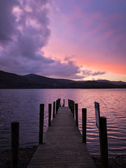 Ashness Gate Jetty (Future-Echoes) Tags: 2017 ashnesslanding cloud cumbria derwentwater evening iphone jetty lake reflection sunset thelakedistrict water