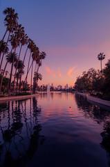 Handheld (S|M) Tags: los angeles echo park la dtla sunset golden hour tokina wide angle lens 1116mm socal travel lake water palm trees nikon d7000