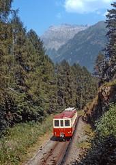 MC BDt 65 (maurizio messa) Tags: mc martigny–châtelard schmalspurbahn vallese wallis valais bt yashicafxd mau bahn ferrovia treni trains railway railroad switzerland svizzera alpi alps