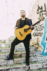 Monte Pittman - Santa Cruz Guitar - Lisbon (Naomi Rahim (thanks for 5 million visits)) Tags: santacruz montepittman lisboa lisbon portugal 2020 nikon nikond7200 music musician guitar guitarist bandpromo photoshoot streetphotography vsco man suit