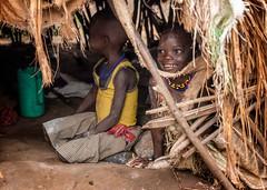 Turkana Girls (Rod Waddington) Tags: africa african afrique afrika eastern uganda ugandan turkana tribe tribal traditional girls culture cultural candid children hut rondel karamoja