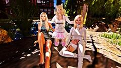 Family Aldrin (кσηєкσ ѕнιвα) Tags: second life 3d mother lesbian daughter nature sun pound neko family blond sexy love koneko shiba aldrin