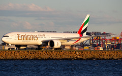 A6-ECM (Leon Aviation) Tags: australia airport yssy sydney aircraft plane sunset emirates 777300er 77w boeing