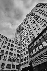 From Oran... (haddadzakaria) Tags: algeria oran city cityscape street architecture building blackandwhite fujifilm xt2 samyang 12mm day nopeople outdoors buildingexterior lowangleview builtstructure window citylife