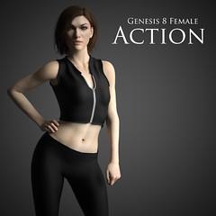 G8F Action Outfit (Adam Thwaites) Tags: action clothes clothing dazstudio daz3d fashion free genesis3female genesis8female outfit