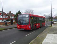 AL ENL9 - LJ07EBU - NSF - ELTHAM HILL - SAT 15TH FEB 2020 (Bexleybus) Tags: tfl route south east london eltham hill se9 yorkshire grey arriva adl dennis enviro 200 b15 enl9 lj07ebu