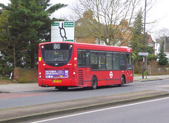 AL ENL9 - LJ07EBU - OSR - ELTHAM HILL - SAT 15TH FEB 2020 (Bexleybus) Tags: tfl route south east london eltham hill se9 yorkshire grey arriva adl dennis enviro 200 b15 enl9 lj07ebu