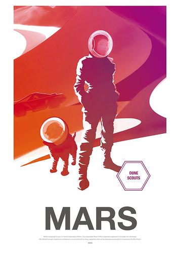 22-Affiche // 50x70 // Mars Dune Scoot