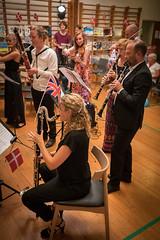 The wood blowers (hanschristian_nielsen) Tags: concert festival prom audiance music musician instrument fejøsfestival fejø denmark fejøbørneogkulturhus