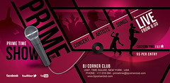 Prime Time Music Ticket Banner Flyer (n2n44.studio) Tags: artist banners club concert disc disk flyer modern music musician party prime professional singer song ticket time vinyl poster print