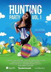 Easter Special Rabbit Hunting Season Party Flyer (n2n44.studio) Tags: animation bar bell bunny celebration club disguise easter egg evening event flower flowers flyer grass hunting party rabbit special theme poster print hunt holidays catholic religion children