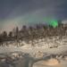 Dogsledding, Aurora Borealis & Salangselva River - 2 Panoramas / Bardu Husky Lodge / Norway 2020