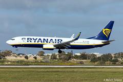 Ryanair Boeing 737-8AS  |  EI-EKM  |  LMML (Melvin Debono) Tags: ryanair boeing 7378as | eiekm lmml 38499 melvin debono spotting spotters spotter canon eos 5d mark iv 100400mm plane photography planes airport airplane aircraft malta mla