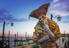venice carnival (try...error) Tags: venedig venise venezia italy carnevale carnaval film masque mask blue sky golden light available bokeh