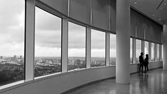 Admiring the View (vtom61) Tags: pentaxme smcpentaxm35mmf28 gettycenter kodak tmax 400 los angeles streetphotography