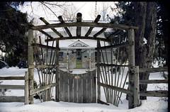 Wood Gate and Fence_ (Bill Smith1) Tags: believeinfilm billsmithsphotography caledonontario classiccamerarevival heyfsc kodakmax400 minoltamd2885f3545zoomlens minoltaxd11