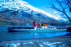 Steamer, Ulswater, Lake District, Cumbria, England (Peter Hosey ( on and off)) Tags: steamer ulswater cumbria england lakedistrict