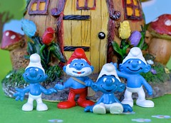 S is for Smiling Smurfs (linda_lou2) Tags: februaryalphabetfun 2020 smurf smiling toy figure