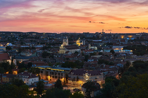 Sunset over Vilnius