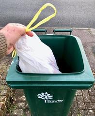 Putting the rubbish out 305-366 (13-4689) (♔ Georgie R) Tags: rubbish bin werehere wah hereio bag