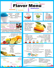 """Snow Cone Menu • <a style=""""font-size:0.8em;"""" href=""""http://www.flickr.com/photos//49557833842/"""" target=""""_blank"""">View on Flickr</a>"""