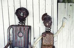 Welcome Metal Couple_ (Bill Smith1) Tags: believeinfilm billsmithsphotography caledonontario classiccamerarevival heyfsc kodakmax400 minoltamd2885f3545zoomlens minoltaxd11