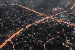 Khulna as Gotham City (mrb.niloy) Tags: mavic2pro dji drone sky trees vehicles bikes cars roads colors lights night town home buildings cityscape city