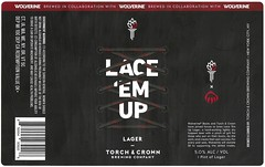 LACE 'EM UP by Cory Galster for Torch & Crown Brewing Company & Wolverine Boots (Label_Craft) Tags: beer beers craftbeer brew suds ale hops labels craft labelcraft beerlabel design illustration type fonts burp beerme brewery torchandcrownbrewing torchandcrown lager wolverine wolverineboots manhattan nyc nycbeer