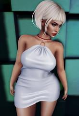 Smooth Criminal (Mαяℓу) Tags: beautifuldirtyrich bdr wasabi secondlife fashion blond secondlifefashion sl shopping white dress pose lelutka maitreya nova evolution
